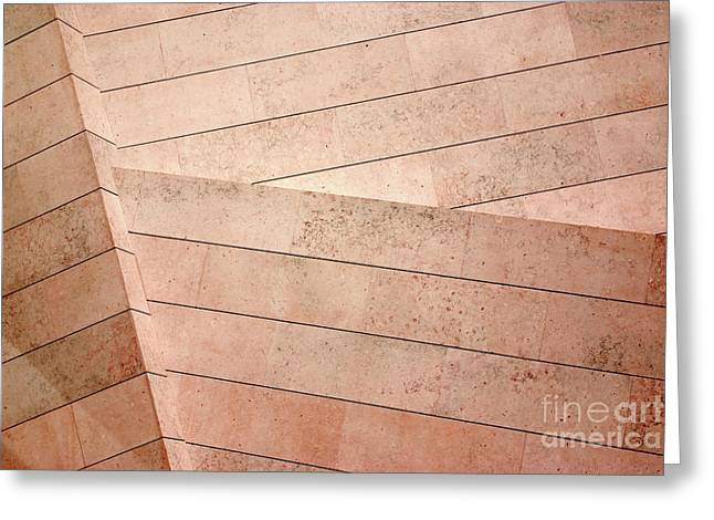 Architecture Lines Greeting Card by Carlos Caetano
