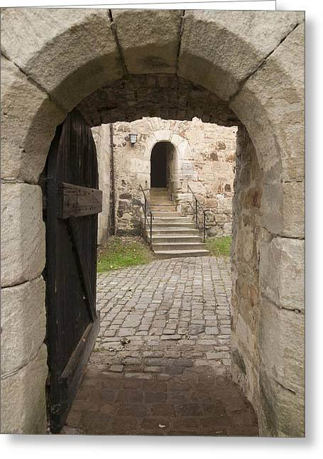 Mediaeval Greeting Cards - Archway - Entrance to historic town Greeting Card by Matthias Hauser