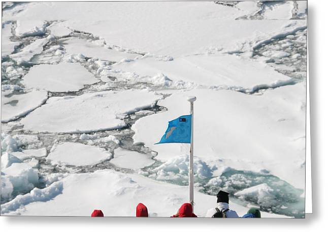 Boat Cruise Greeting Cards - Arctic Explorer Greeting Card by Jim Kuhlmann