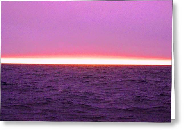 Arctic Rose Greeting Cards - Arctic Horizon Pink Greeting Card by Leslie Cooper
