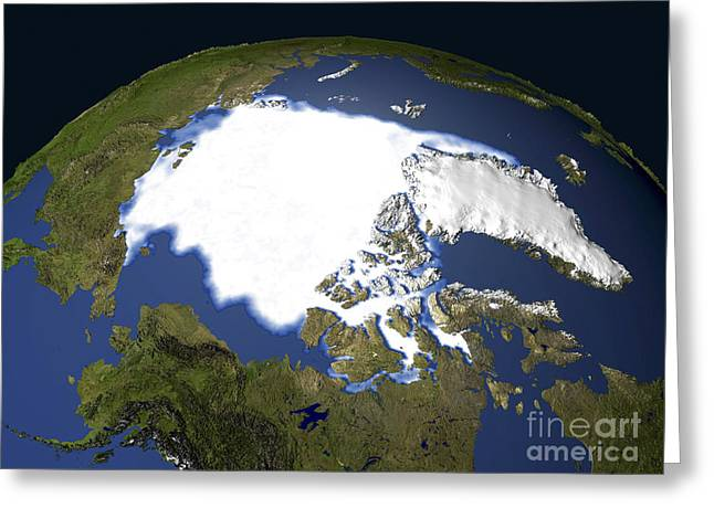 Arctic Sea Ice, 1979 Greeting Card by NASA / Science Source