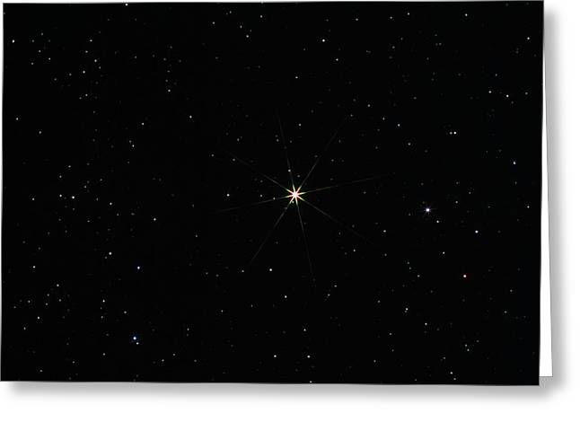 Arcturus Greeting Cards - Arcturus In The Constellation Of Bootes Greeting Card by John Sanford