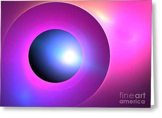 Fractal Eclipse Greeting Cards - Arcturus Greeting Card by Kim Sy Ok