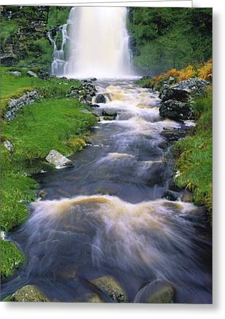 Ardara, Co Donegal, Ireland Waterfall Greeting Card by The Irish Image Collection
