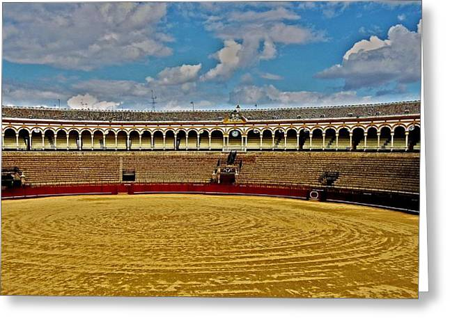 Traditionell Greeting Cards - Arena de Toros - Sevilla Greeting Card by Juergen Weiss
