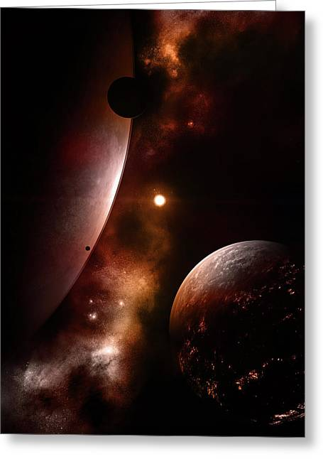 Planet Earth Greeting Cards - Ares Greeting Card by Timothy Engle