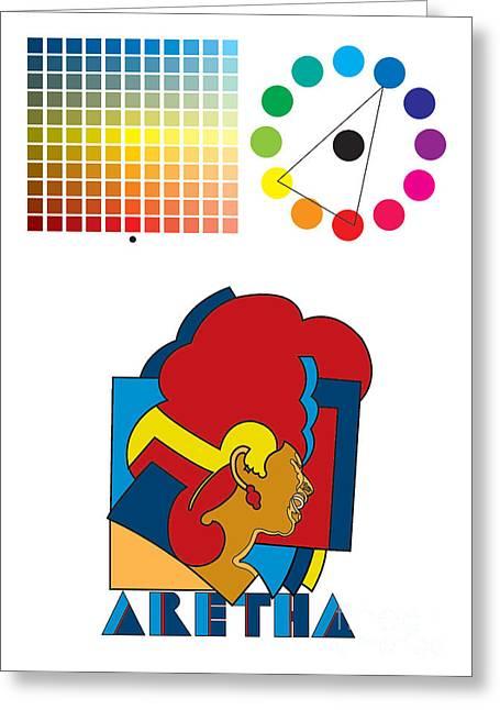 Franklin Digital Art Greeting Cards - Aretha Franklin No.01 Greeting Card by Caio Caldas