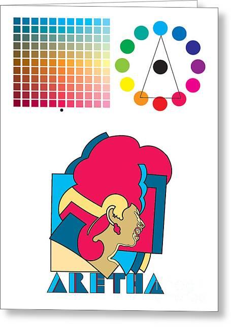 Franklin Digital Art Greeting Cards - Aretha Franklin No.03 Greeting Card by Caio Caldas