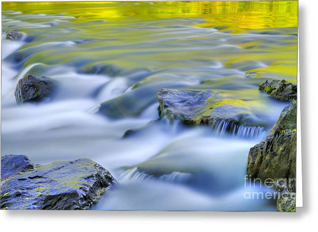 Argen River Greeting Card by Silke Magino