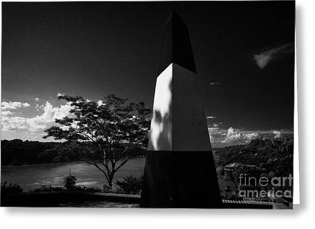 Paraguay Greeting Cards - Argentine Obelisk At The Triple Frontier Los Tres Fronteras Puerto Iguazu Argentina Greeting Card by Joe Fox
