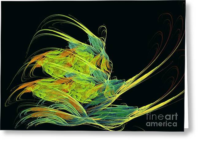 Recently Sold -  - Abstract Digital Greeting Cards - Argonaut Greeting Card by Kim Sy Ok