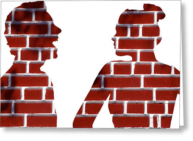 Body Language Greeting Cards - Arguing Couple, Conceptual Image Greeting Card by Victor De Schwanberg