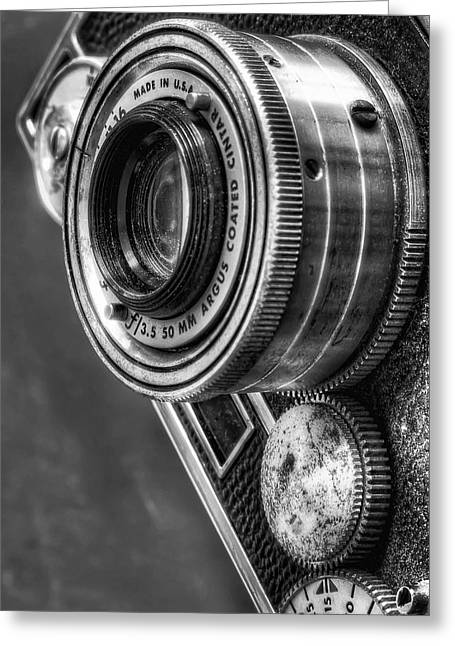 Aperture Greeting Cards - Argus C3 Greeting Card by Scott Norris