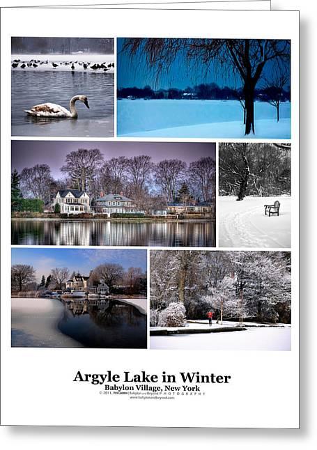 Babylon Greeting Cards - Argyle Lake Winter Poster Greeting Card by Vicki Jauron