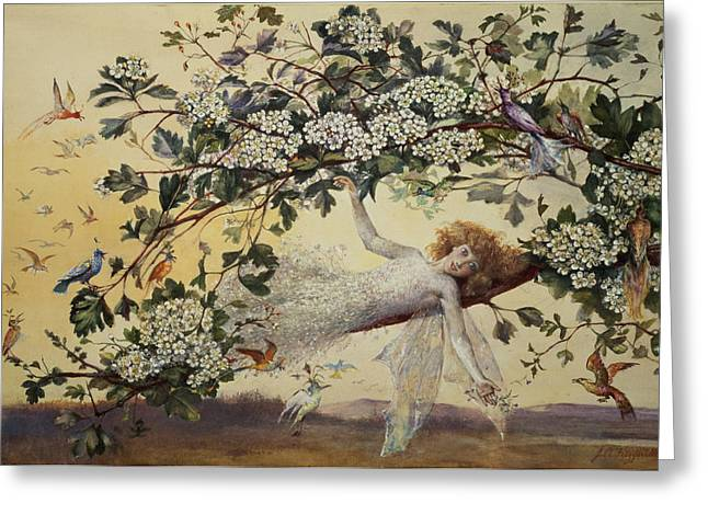 Sprite Greeting Cards - Ariel Greeting Card by John Anster Fitzgerald
