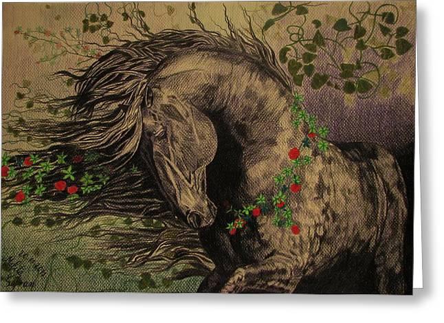 Melita Greeting Cards - Aristocratic horse Greeting Card by Melita Safran