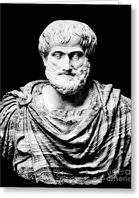 Aristotle Greeting Cards - Aristotle, Ancient Greek Philosopher Greeting Card by Omikron