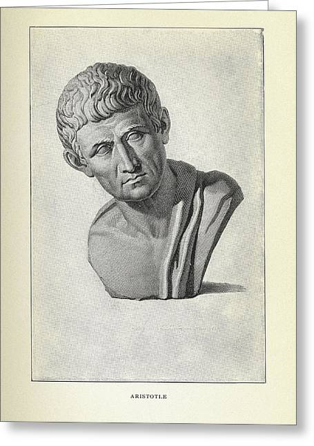Aristotle Greeting Cards - Aristotle, Ancient Greek Philosopher Greeting Card by Science, Industry & Business Librarynew York Public Library