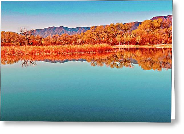 Arizona Dead Horse State Park Greeting Card by Bob and Nadine Johnston