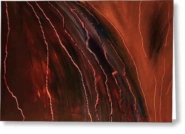 Arizona Lightning Paintings Greeting Cards - Arizona Wild Greeting Card by Marco Rosales Shaw