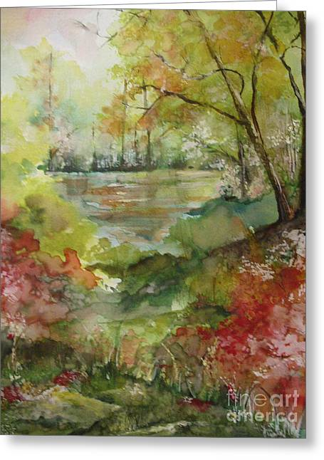 Arkansas Paintings Greeting Cards - Arkansas Springtime Greeting Card by Robin Miller-Bookhout