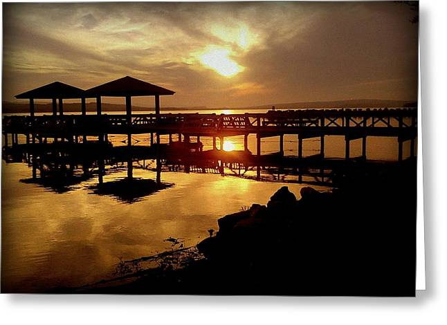 Russellville Arkansas Greeting Cards - Arkansas Sunset Greeting Card by Becky Foster