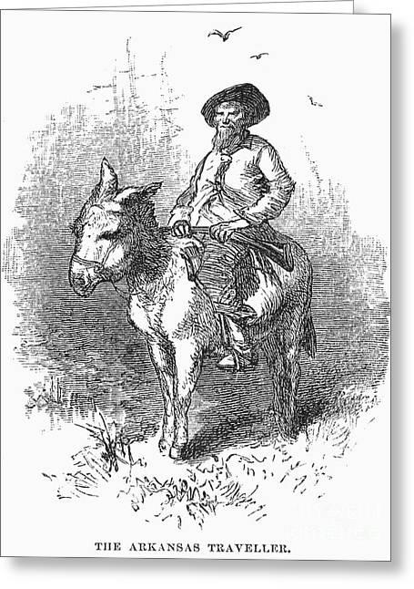 Arkansas Greeting Cards - Arkansas Traveler, 1878 Greeting Card by Granger