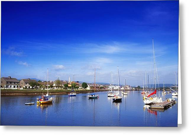 Boats In Harbor Greeting Cards - Arklow, River Avoca, County Wicklow Greeting Card by The Irish Image Collection