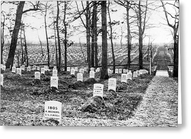 Arlington Photographs Greeting Cards - Arlington National Cemetery - c 1867 Greeting Card by International  Images