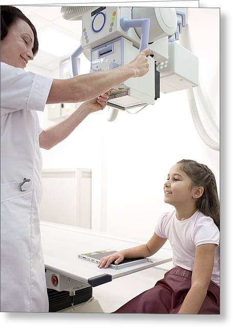 8-9 Years Greeting Cards - Arm X-ray Greeting Card by