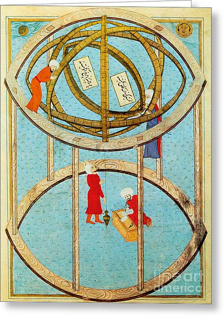 Armillary Greeting Cards - Armillary Sphere Greeting Card by Science Source