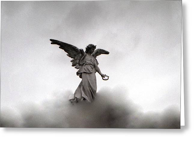 Toy Shop Greeting Cards - Armless Angel Greeting Card by Doug  Duffey