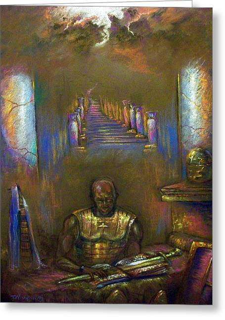 Armor Of God Greeting Card by Tommy  Winn
