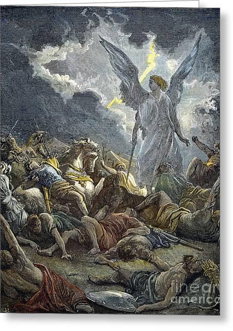 Dore Greeting Cards - Army Of Sennacherib Greeting Card by Granger