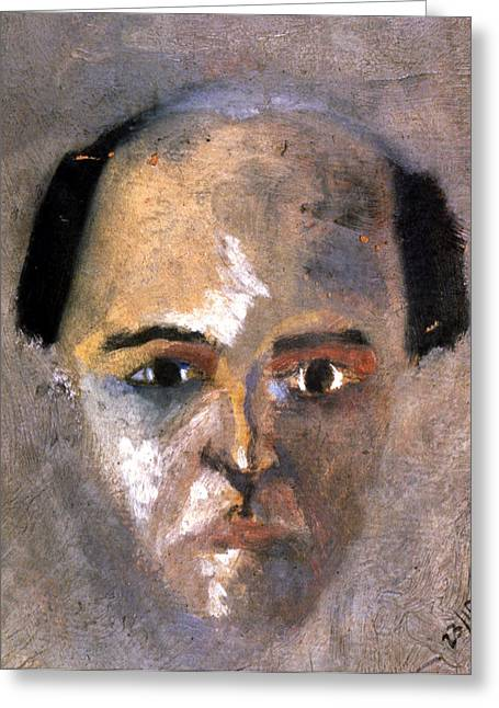 Best Sellers -  - Self-portrait Photographs Greeting Cards - Arnold Schoenberg Greeting Card by Granger