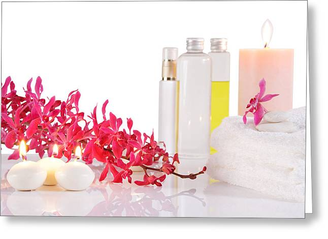 Treatment Greeting Cards - Aromatherapy Greeting Card by Atiketta Sangasaeng