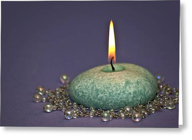 Candle Lit Greeting Cards - Aromatherapy Greeting Card by Carolyn Marshall