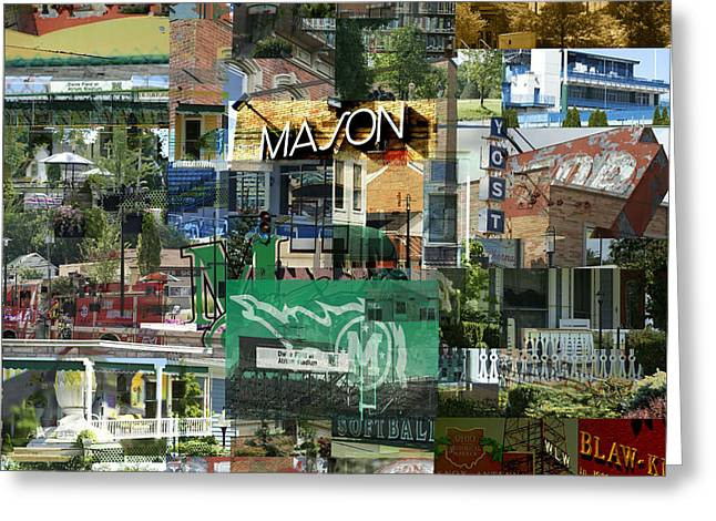 Veterans Stadium Greeting Cards - Around Mason 3 Greeting Card by Robert Glover