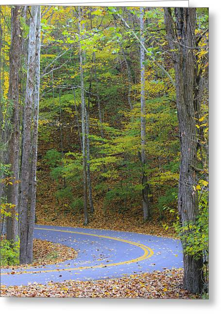Scenic Drive Greeting Cards - Around the Bend Greeting Card by Teresa Mucha