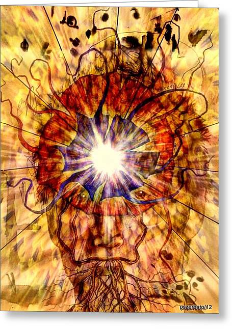 Unity Consciousness Greeting Cards - Arouse The Need To Connection With The Unit Greeting Card by Paulo Zerbato