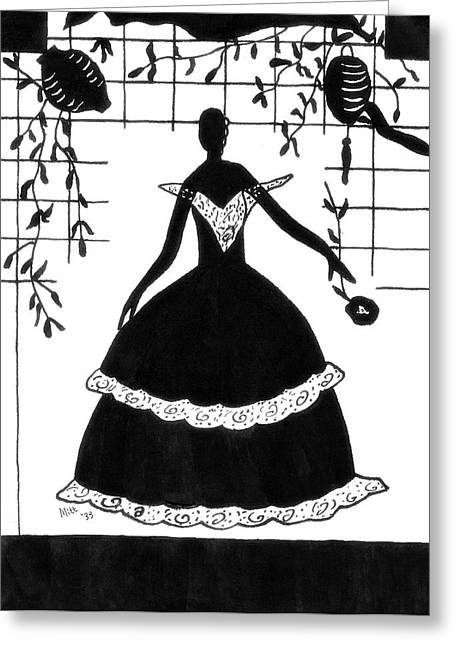 Best Sellers -  - Ball Gown Greeting Cards - Arriving at the Ball Greeting Card by Patricia Montgomery