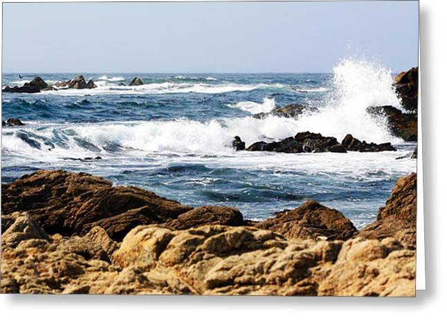 Geology Photographs Greeting Cards - Arriving Tide at Pebble Beach Greeting Card by Marilyn Hunt