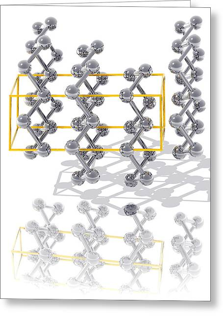 Inheritance Greeting Cards - Arsenic Crystal Structure Greeting Card by Laguna Design