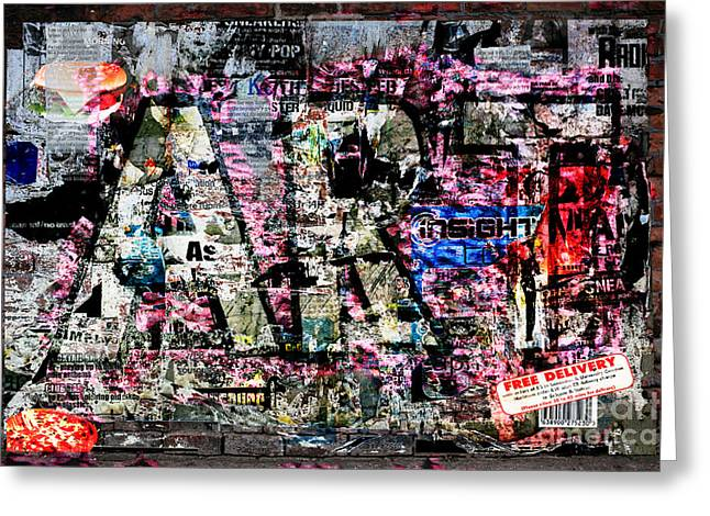 Graffiti Art Greeting Cards - Art 2  Greeting Card by Andy  Mercer