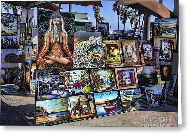 Hip Hop Bear Greeting Cards - Art 4 Sales Venice beach Greeting Card by Chuck Kuhn