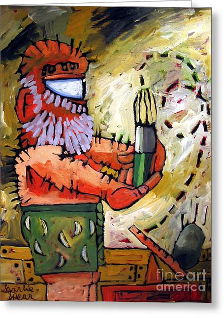 Process Paintings Greeting Cards - Art A Neat Trick Greeting Card by Charlie Spear