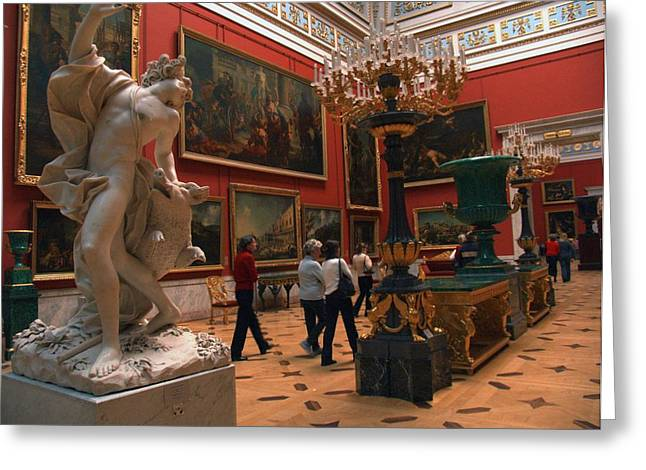 The Hermitage Greeting Cards - Art Collection Inside The Hermitage Greeting Card by Richard Nowitz