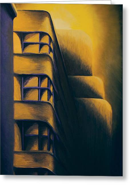 Montreal Urban Landscapes Greeting Cards - Art Deco Eerie Greeting Card by Duane Gordon