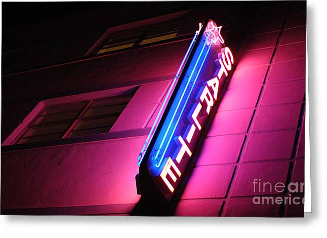 Famous Hotel Greeting Cards - Starlite Hotel Art Deco District Miami 4 Greeting Card by Bob Christopher