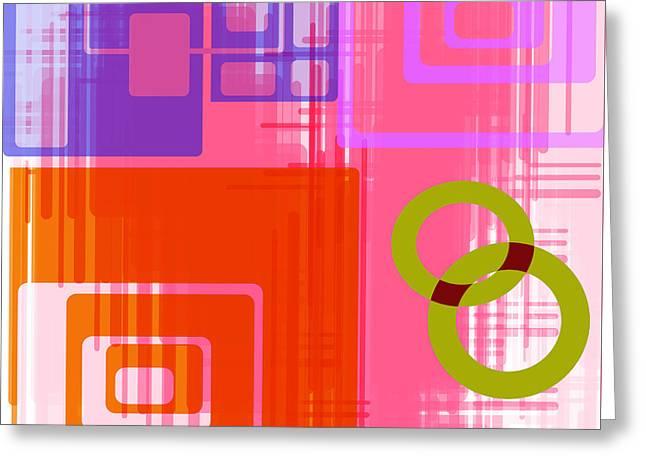 Susan Leggett Digital Greeting Cards - Art Deco Style Digital Art Greeting Card by Susan Leggett